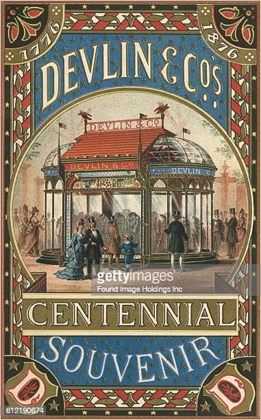 Vintage illustration of Devlin Co Centennial Souvenir 1876