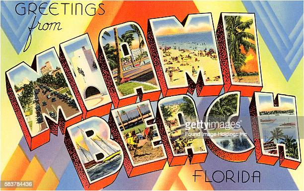 Excellent Greetings From Florida Postcard Stock Illustrations And Cartoons  JK47