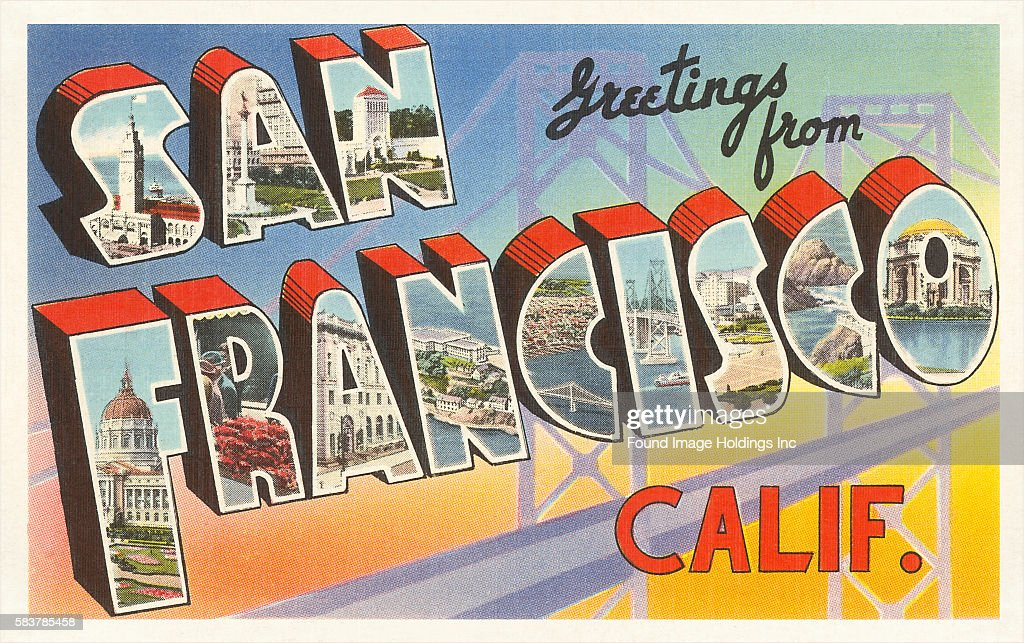 Greetings from san francisco california pictures getty images vintage illustration of greetings from san francisco california large letter vintage postcard 1930s m4hsunfo
