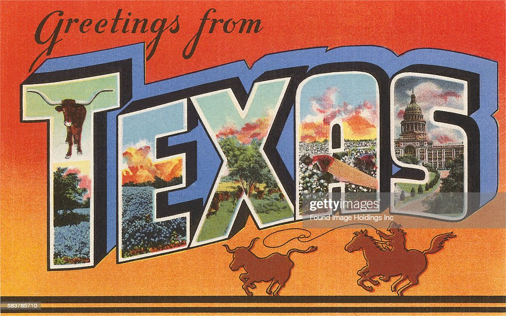 Greetings from texas pictures getty images vintage illustration of greetings from texas large letter vintage postcard 1940s m4hsunfo