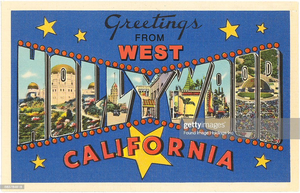 Greetings from west hollywood california pictures getty images vintage illustration of greetings from west hollywood california large letter vintage postcard 1930s m4hsunfo Gallery