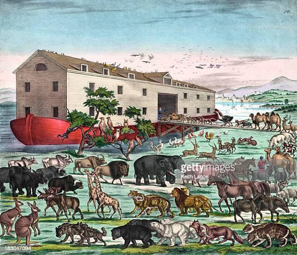 Vintage ilustração de Noah's Ark