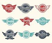Vintage label badge set