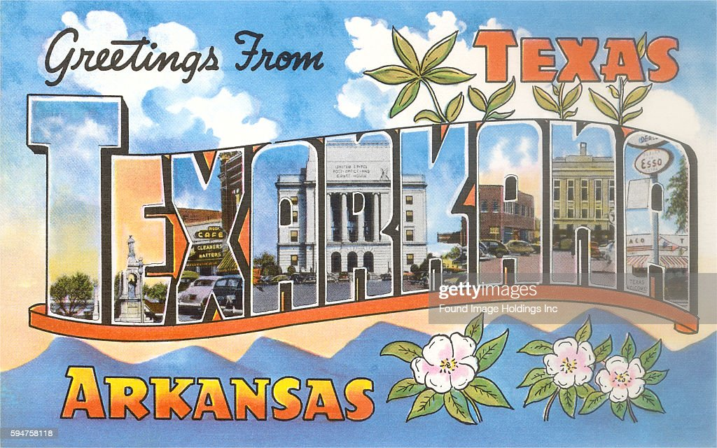 Greetings from texarkana texas pictures getty images vintage large letter illustrated postcard greetings from texarkana texas arkansas m4hsunfo