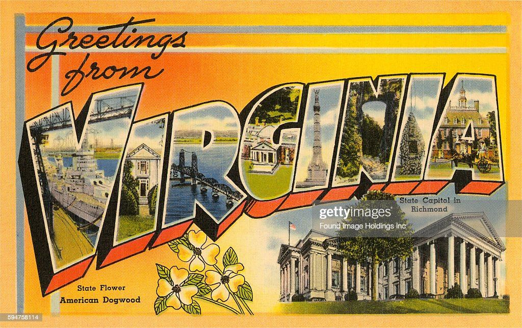 Vintage large letter illustrated postcard 'Greetings from