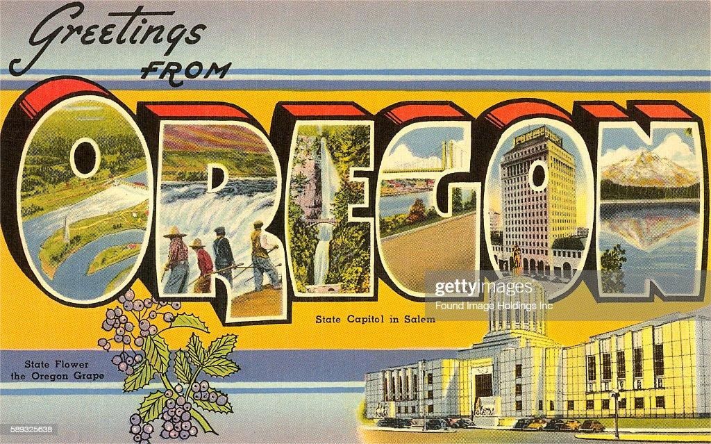 Vintage large letter illustrated postcard images of rivers