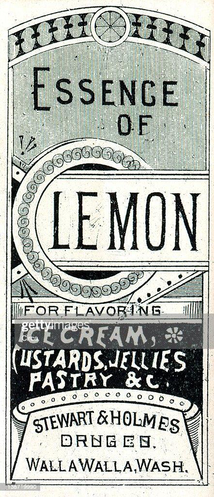 Vintage Medicine Label Stock Illustration