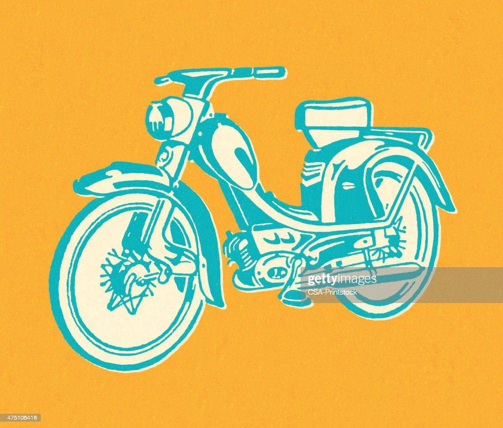 Vintage Moped : stock illustration