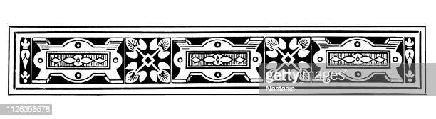 ビンテージ ページ飾り - 地理的境界点のイラスト素材/クリップアート素材/マンガ素材/アイコン素材