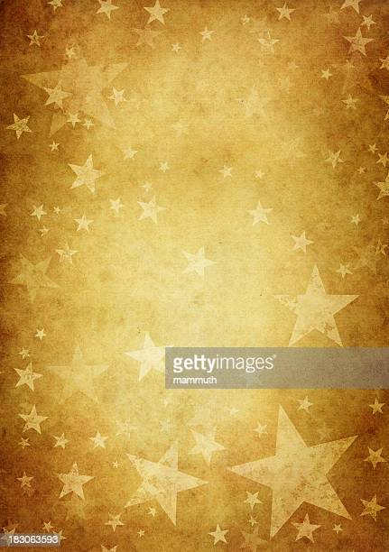 vintage paper decorated with grungy stars