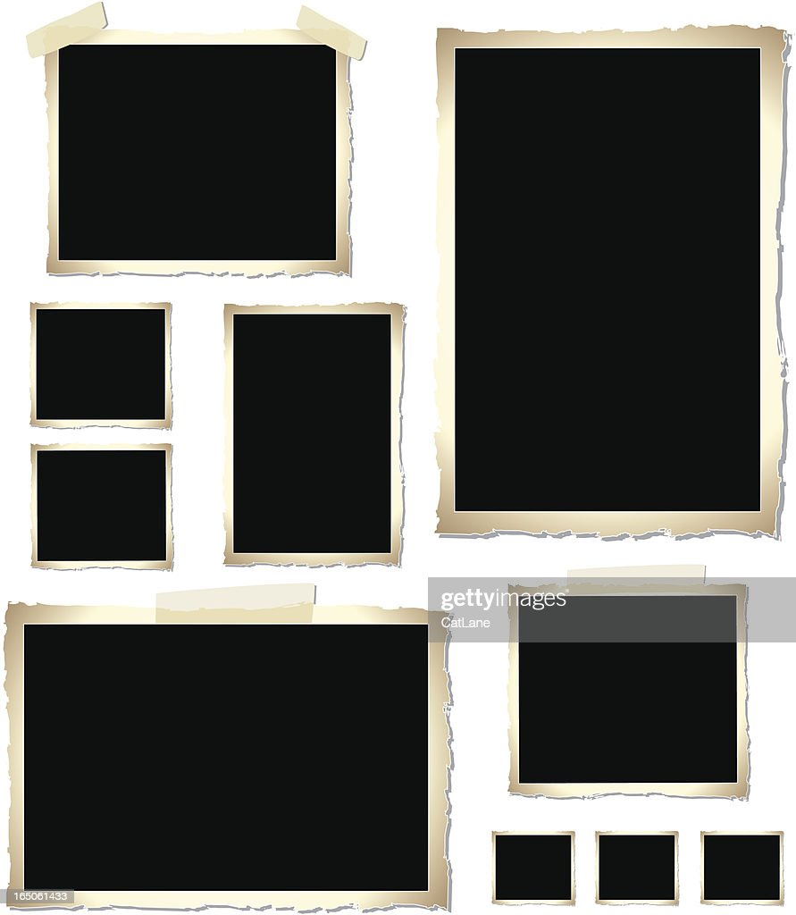 Vintage Photo Frames (vector) : stock illustration