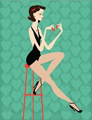 Vintage Pin-Up on Chair
