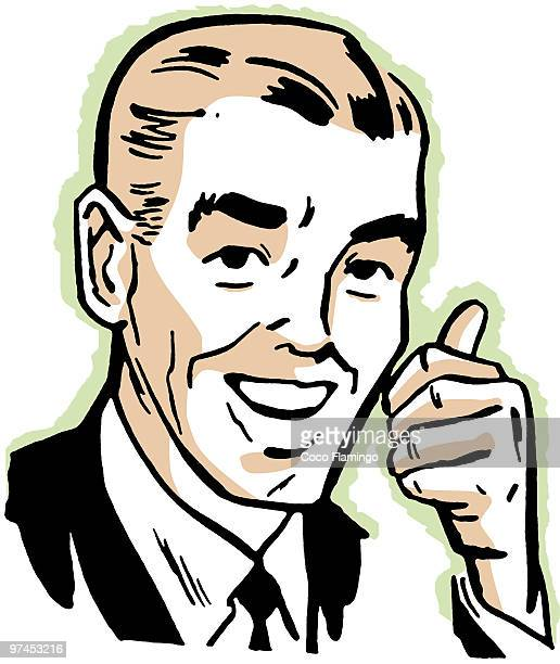 a vintage print of a man giving the thumbs up - tiziano vecellio stock illustrations, clip art, cartoons, & icons