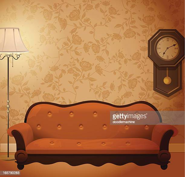 vintage room - the past stock illustrations