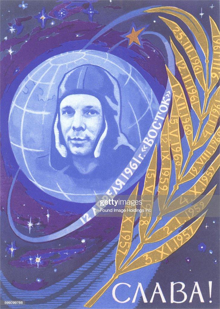 Yuri Gagarin, Laurel Leaf : News Photo