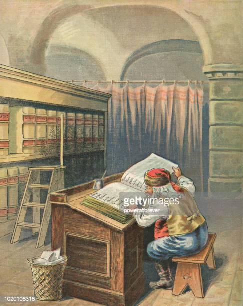Vintage Santa Claus Checking His List