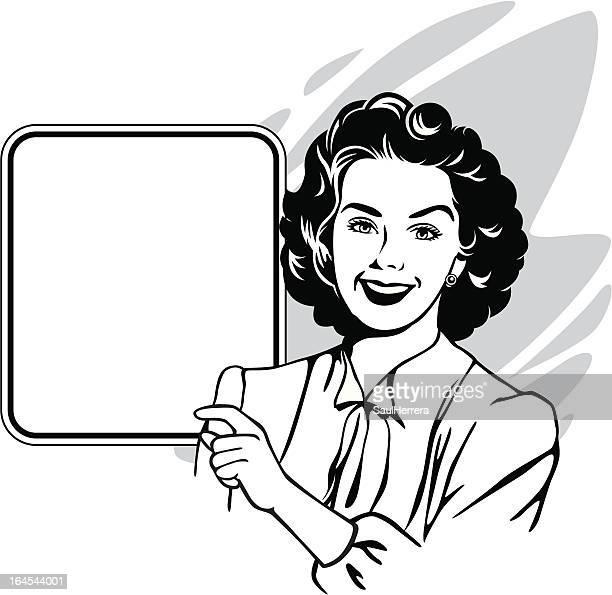 ヴィンテージの固定観念若い女性 - ジェンダー・ステレオタイプ点のイラスト素材/クリップアート素材/マンガ素材/アイコン素材