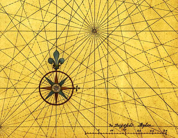 Old Compass Rose Wall Art