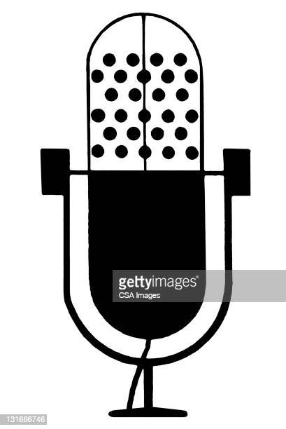 vintage style microphone - microphone transmission stock illustrations