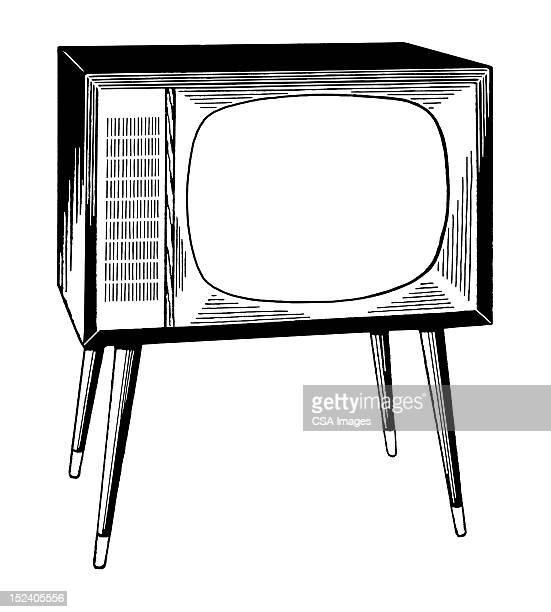 ビンテージテレビ - 動画関連点のイラスト素材/クリップアート素材/マンガ素材/アイコン素材