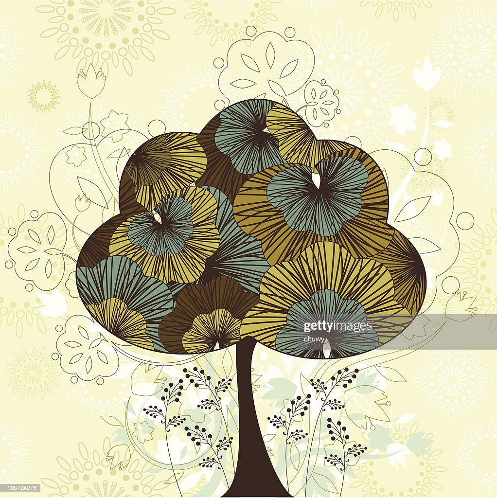Vintage Tree High Res Vector Graphic Getty Images