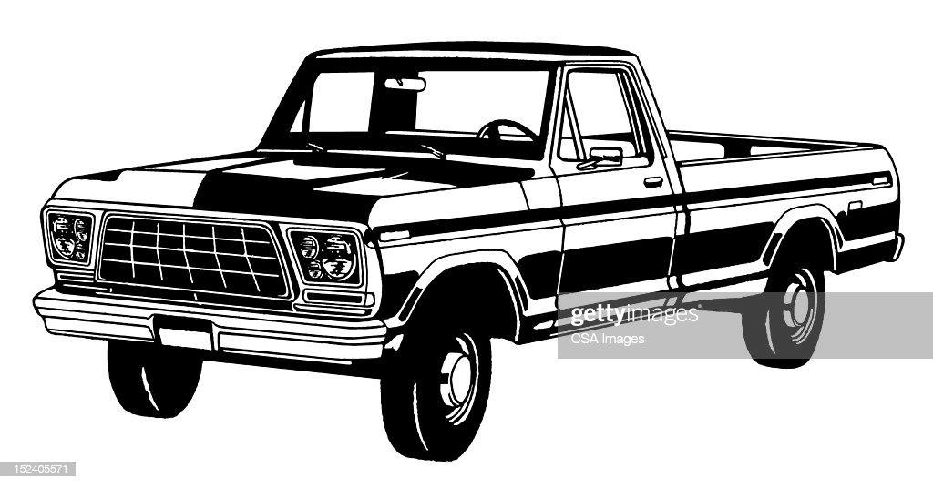 Vintage Truck : Stock Illustration
