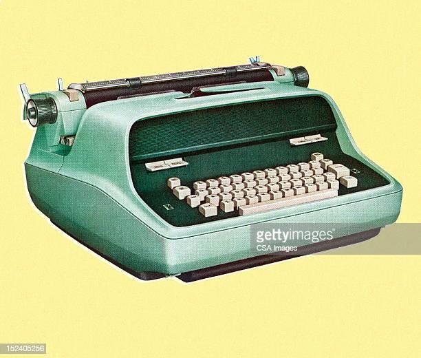 vintage typewriter - typewriter stock illustrations