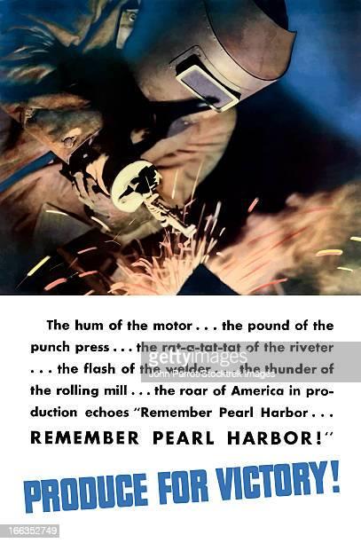 ilustraciones, imágenes clip art, dibujos animados e iconos de stock de vintage world war ii poster of a welder working to aid the war effort. - soldar