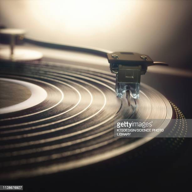 vinyl record being played, illustration - アナログレコード点のイラスト素材/クリップアート素材/マンガ素材/アイコン素材