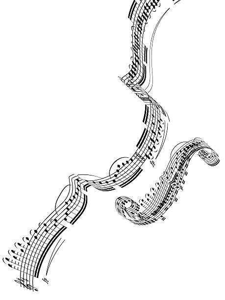 A Violin Made From Music Notes Wall Art