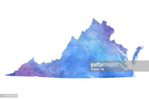 バージニア水彩画ラスターマップイラスト - バージニア州点のイラスト素材/クリップアート素材/マンガ素材/アイコン素材
