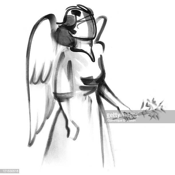virgo astrological sign, illustration - husk stock illustrations, clip art, cartoons, & icons
