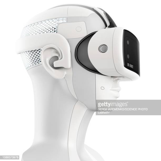 virtual reality technology, illustration - mannequin stock illustrations, clip art, cartoons, & icons