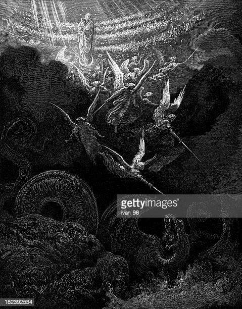 vision of a woman - gustave dore stock illustrations, clip art, cartoons, & icons