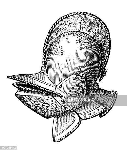visor face helmet - helmet visor stock illustrations, clip art, cartoons, & icons