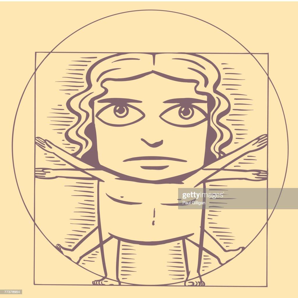 Vitruvian man : Illustration