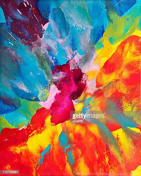 Vivid Multicolored Abstract Art on canvas