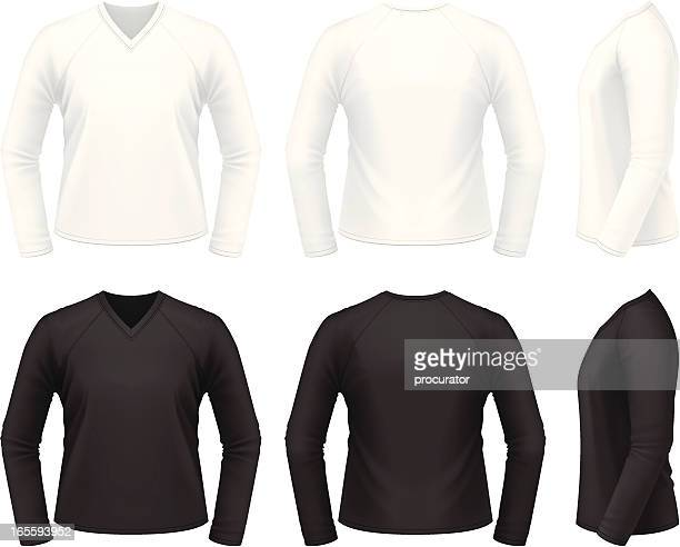 v-neck shirt - sweater stock illustrations, clip art, cartoons, & icons