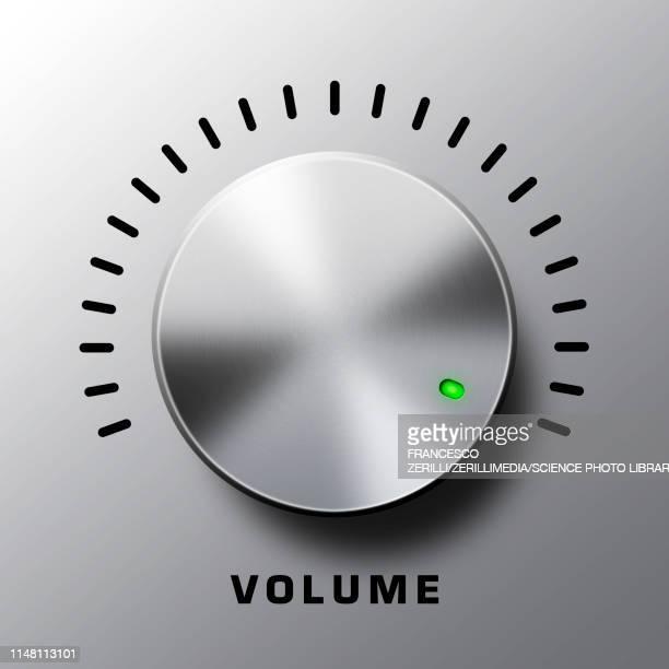 volume knob, illustration - audio equipment stock illustrations
