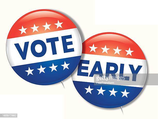 vote early - voting stock illustrations