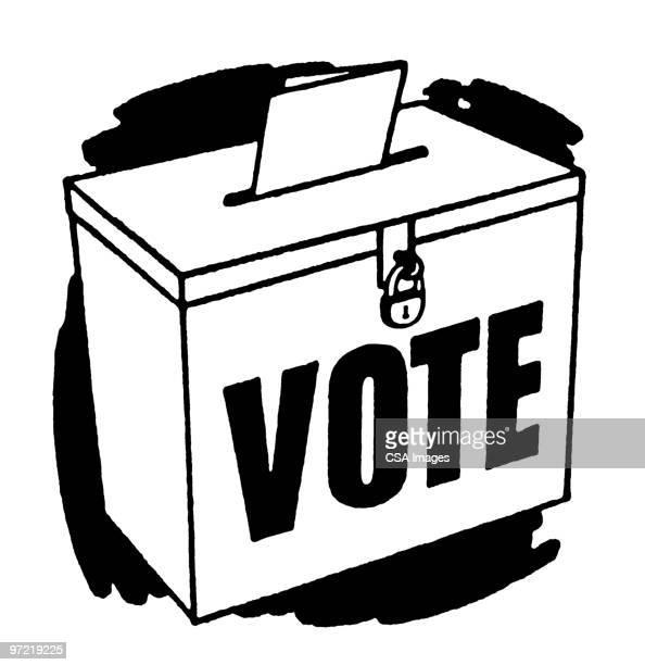 vote - voting ballot stock illustrations