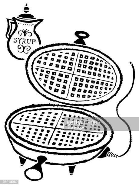 waffle iron - waffle stock illustrations, clip art, cartoons, & icons