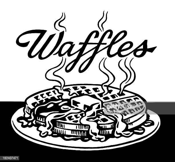 waffles - waffle stock illustrations, clip art, cartoons, & icons