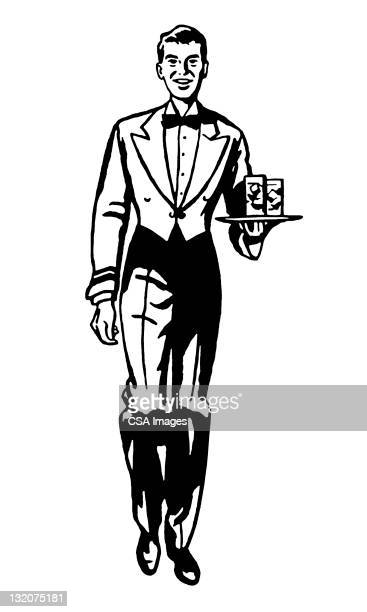 Waiter Carrying Drinks