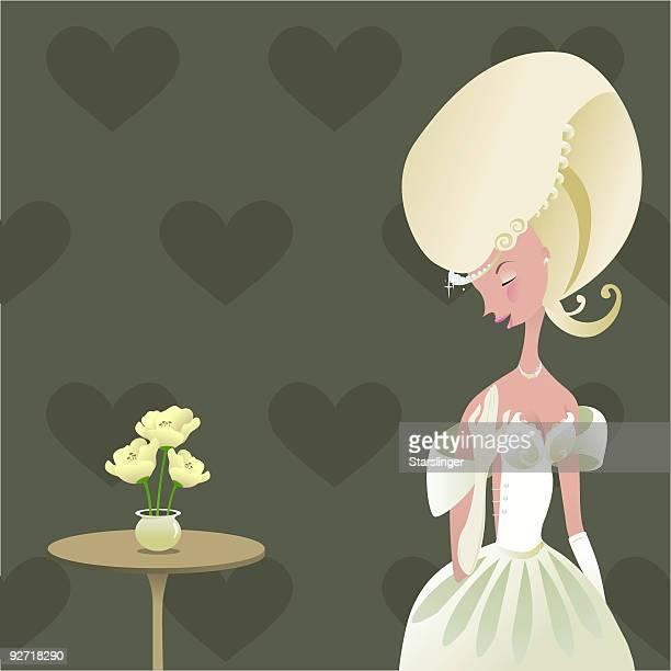 Warten schöne Braut