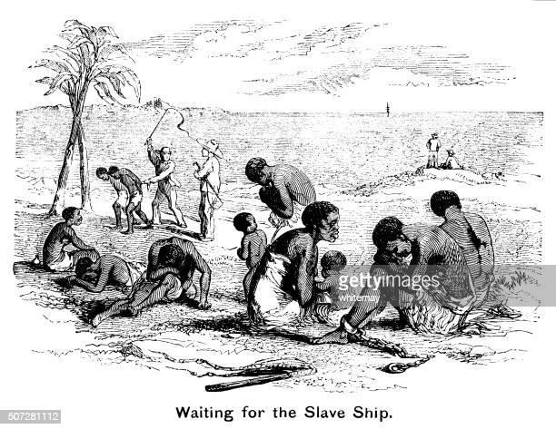illustrations, cliparts, dessins animés et icônes de attente pour le bateau d'esclaves - image du xixème siècle