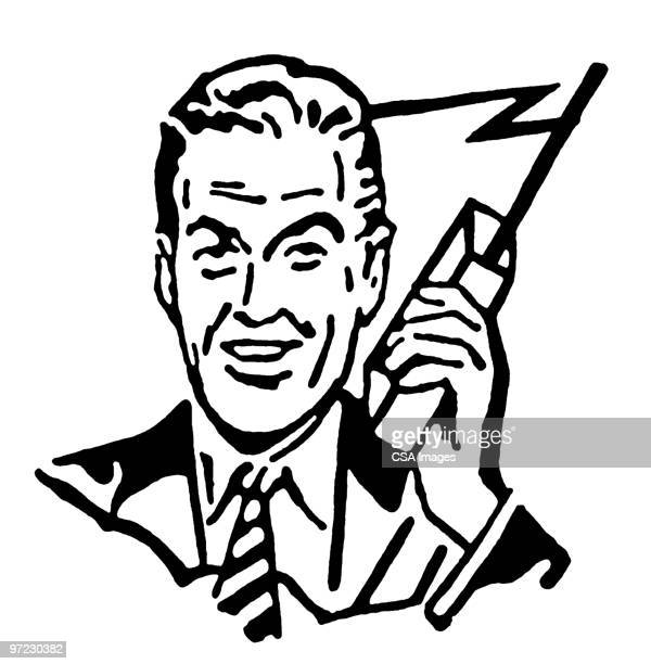 illustrations, cliparts, dessins animés et icônes de walkie talkie - impatient