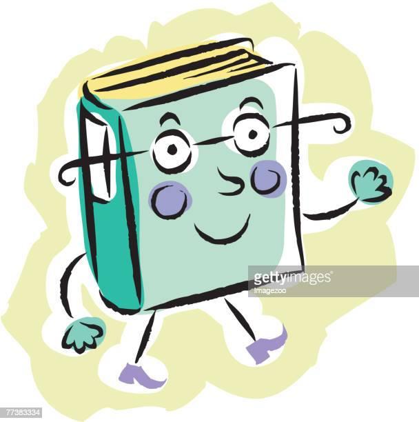walking book - encyclopaedia stock illustrations, clip art, cartoons, & icons