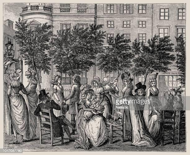 大通りのデ顕著、パリを歩く - 1800~1809年点のイラスト素材/クリップアート素材/マンガ素材/アイコン素材