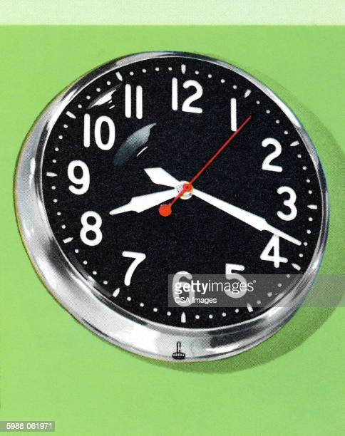 wall clock - time stock illustrations